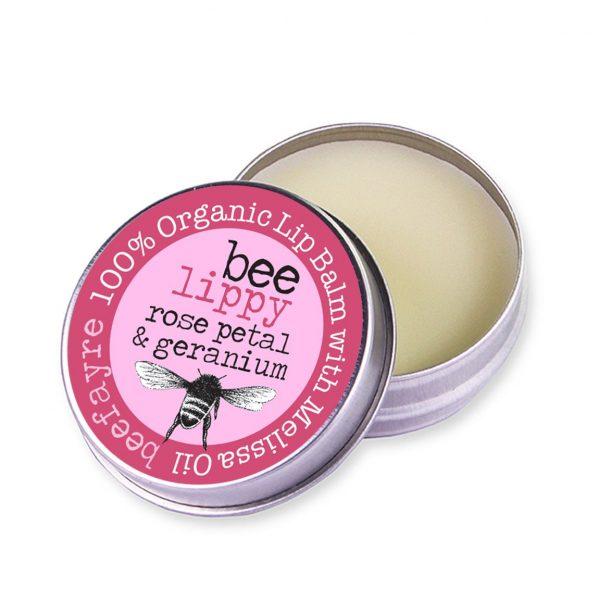 Organic Lip Balm - Rose Petal & Geranium-0