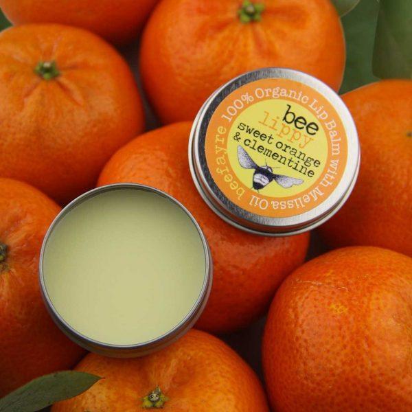 Organic Lip Balm - Sweet Orange & Clementine-0