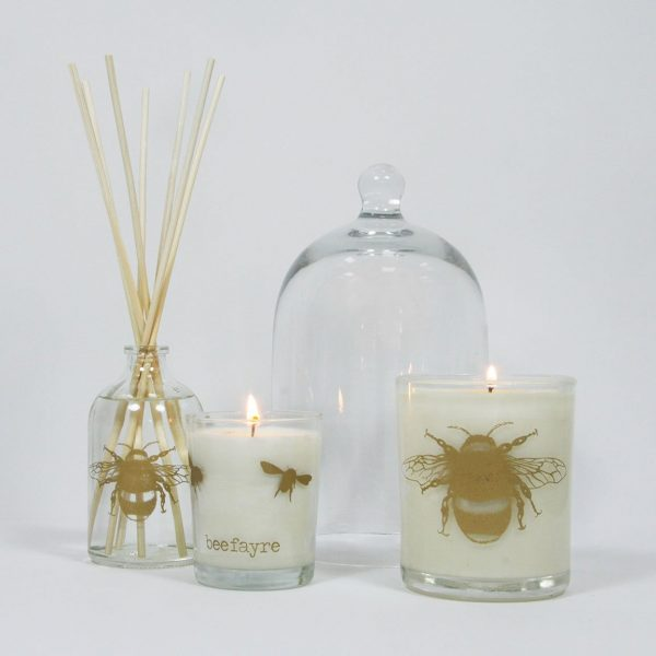 Bee Calm Lavender & Geranium Large Candle-8005