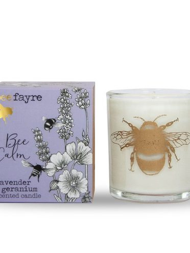 Bee Calm Lavender & Geranium Large Candle-0