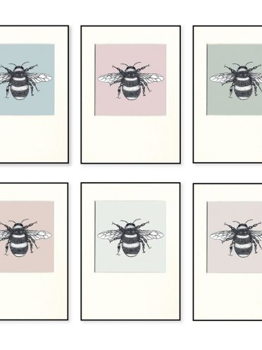 Bumble Bee Print Set X 6-0