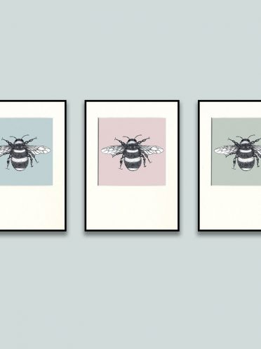 Bumble Bee Print Set-0