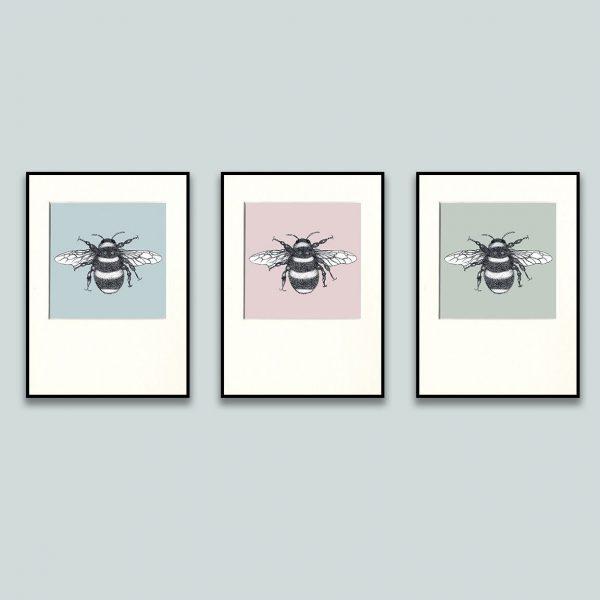 Bumble Bee Print Set-0