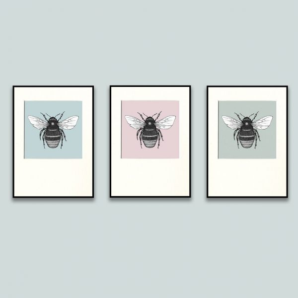 Red Tailed Bumble Bee Print Set-0
