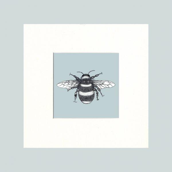 Bumble Bee Print (Blue)-0
