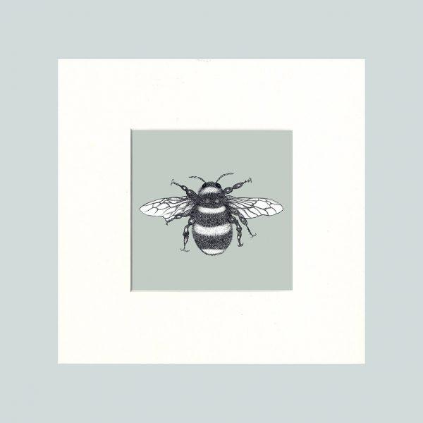Bumble Bee Print (Green)-0