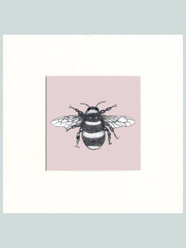 Bumble Bee Print (Pink)-0