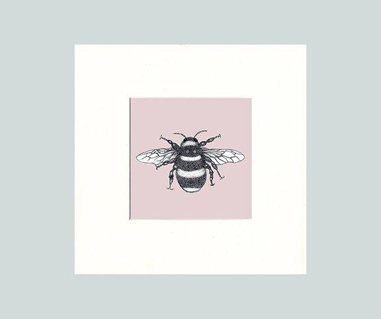Bumble Bee Print (Pink)-7490