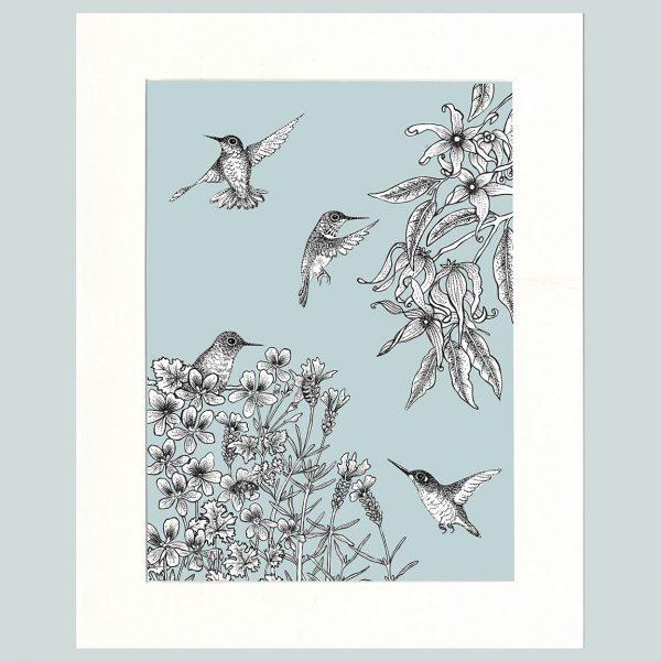 Birds Print (Blue)-0