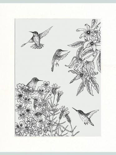 Birds Print (Cream)-0