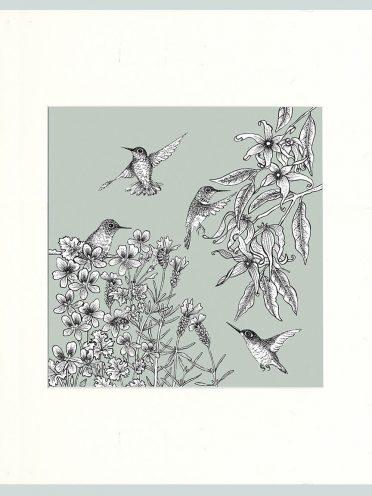 Birds Print (Green)-0
