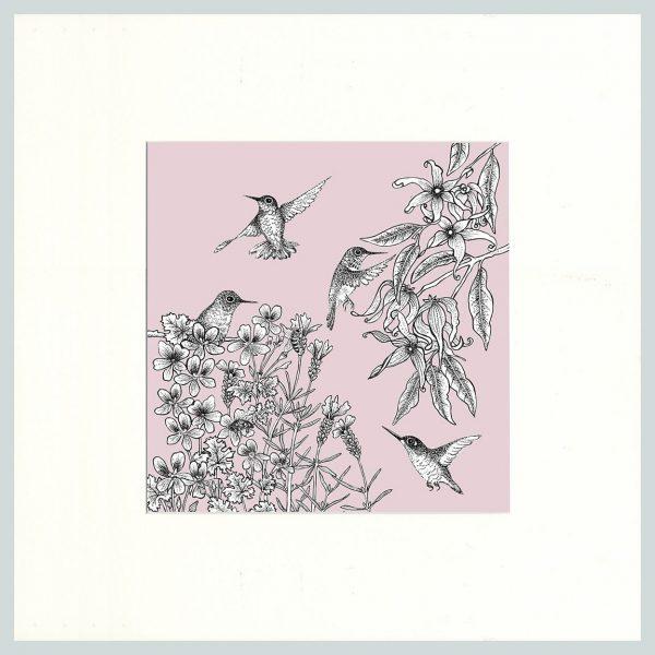 Birds Print (Pink)-0