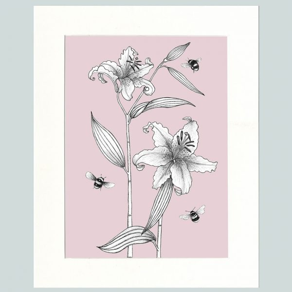 Lily & Bees (Pink)-0