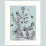 Watermint & Rosemary Print (Blue)-0