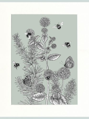 Watermint & Rosemary Print (Green)-0