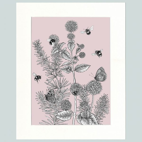 Watermint & Rosemary Print (Pink)-0