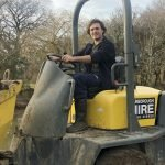 Sam on the Digger